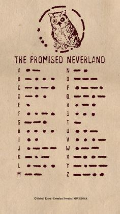 Morse Code The Promised Neverland Alphabet Code, Sign Language Alphabet, Alphabet Symbols, Sign Language Words, Morse Code, Fanarts Anime, Otaku Anime, Anime Art, Animes Wallpapers