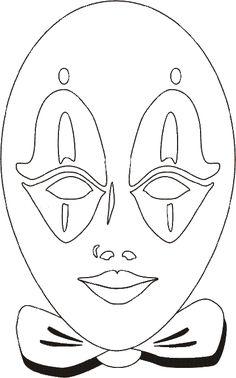 máscaras de carnaval para colorir estilo mimico