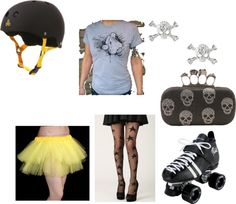"""Roller Derby Outfit"" by bethann85 on Polyvore"