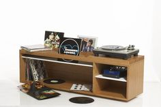 LP Storage cabinet with stand for record player