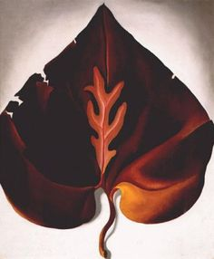 Dark and Lavender Leaf  -  Georgia O'keeffe 1931  American 1887-1986