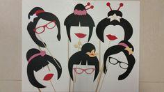 Geisha #japanese photo booth props #cricutexplore