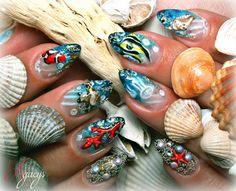 Water Nail Art, Water Nails, My Nails, Nail Designs, Nail Desings, Nail Design, Nail Organization, Nail Art Ideas