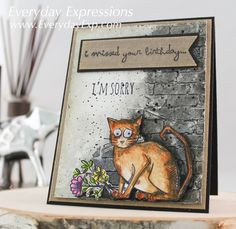 Woo Woo! Two posts in two days! And guess what? I've got another card ready to photograph and post tomorrow as well! I have been working like crazy in Tim Holtz' Creative Chemistry 103,…