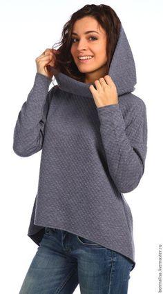 Купить Стеганая толстовка - темно-серый, однотонный, толстовка, толстовка с капюшоном, толстовка женская Cosy Outfit, Workout Wear, Couture, Sportswear, Tee Shirts, My Style, Sweatshirts, Womens Fashion, Sweaters