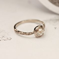 Image of for more 'Opaque Diamond' rings, please see our RUST Wedding ring online shop.