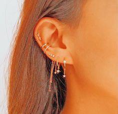 Unique Ear Piercings, Ear Piercings Chart, Ear Peircings, Types Of Ear Piercings, Cute Piercings, Different Types Of Piercings, Ear Jewelry, Cute Jewelry, Jewelery