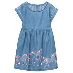 Toddler Girl Chambray Horse Dress by Gymboree