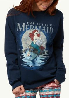 The Little Mermaid sweatshirt Disney Merch, Disney Collection, Rockabilly, Disney Outfits, Disney Fashion, Disney Clothes, Ariel The Little Mermaid, Little Mermaid Shirt, Mermaid Disney