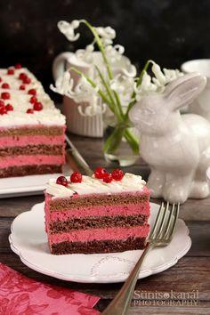 Ribizlikrémes torta mascarponehabbal Deserts, Food And Drink, Cake, Recipes, Meal, Food And Drinks, Kochen, Pie Cake, Desserts