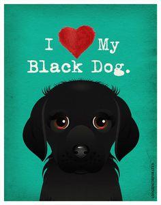 I Love My Black Dog   I Love My Dog  I Heart by DogsIncorporated