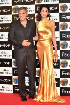 Amal and George Clooney at Tomorrowland Premiere in Tokyo | POPSUGAR Celebrity