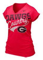 Georgia Bulldogs Women's Red Nike Ole Faithful Sweep T-Shirt