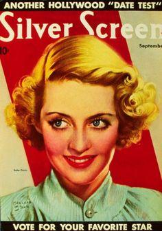Bette Davis 11x17 Silver Screen Magazine Cover Poster (1940's)