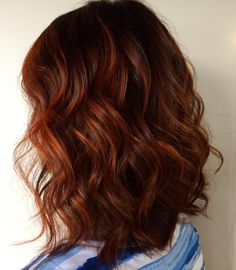 copper balayage Gorgeous copper by Madison Brunette Hair Color With Highlights, Hair Color Auburn, Auburn Hair, Hair Color Balayage, Copper Balayage, Fall Highlights, Color Streaks, Hair Color Shades, Hair Color Dark