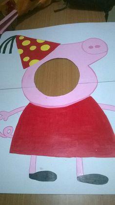 Peppa pig photo booth