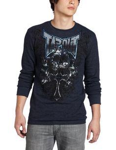 TapouT Men's Tri Skull Thermal Sweatshirt « Clothing Impulse