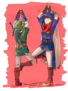 Super Smash Bros. Link and Ike fit | #WiiU