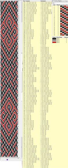 24 tarjetas, 4 colores, repite cada 72 movimientos // sed_223༺❁