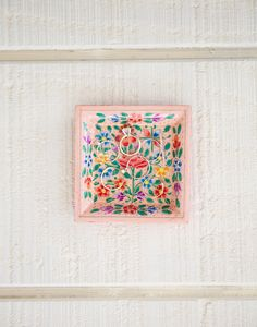 hand painted square tray