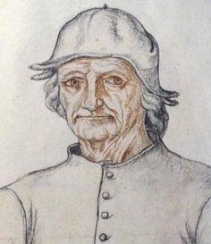 Jacques Le Boucq (naar een onbekende meester). Portret van Jheronimus Bosch. Ca. 1550.