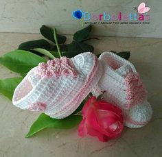 Baby Shoes, Newborn Shoes, Baby Sneakers, Babyshower, Converse, Crochet Shoes, Crochet Baby Booties,  White-Pink, Gift, Allstar, Baby Gift