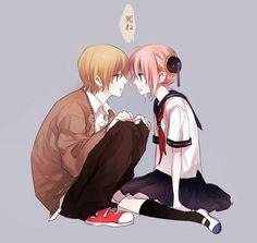 una hermosa pareja un genial anime la combinación perfecta -gintama