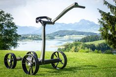 S-Walk, the first smart Golf e-Trolley with a smart automatic speed regulation. Continue reading S-Walk, a Golf e-Trolley that automatically adapts to golfer& pace on Inceptive Mind. Golf Trolley, Golf Carts, Electric Golf Cart, Golf Cart Accessories, Far Away, Monitor, Walking, Continue Reading, Green