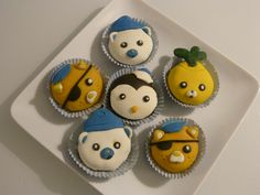 cupcakes octonauts raliss en pte damande colore kwazii capitaine barnacles peso - Pate D Amande Colore