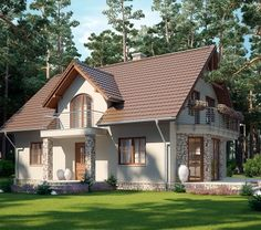 Need a new garden or home design? You're in the right place for decoration and remodeling ideas.Here you can find interior and exterior design, front and back yard layout ideas. Modern Barn House, Best Modern House Design, Modern Bungalow House, Dream Home Design, Modern House Plans, Home Design Plans, Small Country Homes, House Architecture Styles, Three Bedroom House Plan