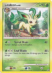 Pokemon Diamond and Pearl Majestic Dawn- Leafeon (Rare) Card