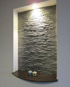 58 Trendy Home Sala Mirror Niche Design, Wall Design, Hallway Decorating, Entryway Decor, Niche Decor, Wall Decor, Japanese Modern House, Muebles Living, Stair Lighting