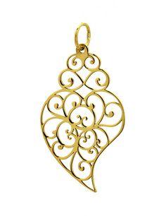 Medalha de Prata Dourada Coração de Viana, Bijuteria, Acessórios, Mulher | Moda Online | SAPO Fashion