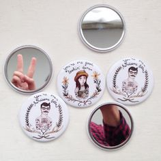 These little illustrated pocket mirrors are a wonderful reminder of how good looking you are! Plus they make a functionally fabulous stocking stuffers!