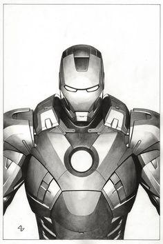 Iron Man by Adi Granov * - Comic Book Art Work By Adi Granov -. #mindcomics #comicsdrawings