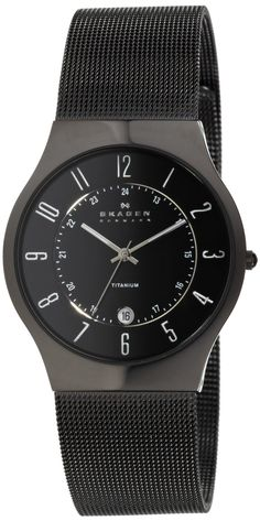 Skagen Men's 233XLTMB Titanium Watch Detail at http://www.squidoo.com/watches-for-young-men