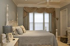 window treatments for large windows | Traditional Window Treatments design by Tampa Interior Designer Debra ...