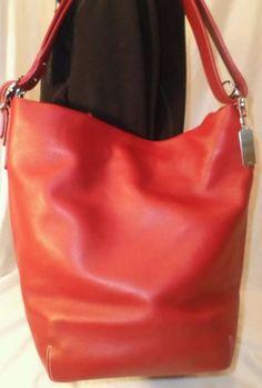 Coach 9151 legacy red xl duffle sac vintage nice hobo purse crossbody shoulder