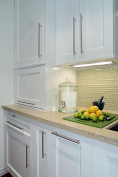 This Kitchenu0027s Predominantly White And Cream Color Palette Allows For Fun  Color Play In The Accents