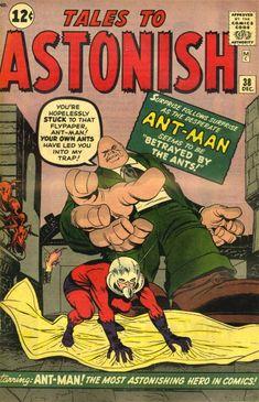 Tales to Astonish #38. Ant-Man- defeated by flypaper. #TalesToAstonish #AntMan