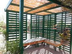 How to build a shade structure from pallets