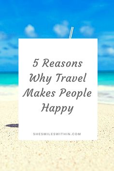 Have you ever wondered Why Traveling Makes People Happy? I have too! People that travel are often the more relaxed, satisfied and able to adjust I realized that when I asked this questions that there were multiple things at play. There isn't just one reason why traveling makes people happy. There are several. So let's dive into 5 Reasons Why Traveling Makes People Happy. It Gives You Something To Look Forward To Did you know that planning and talking about an upcoming trip is just as…
