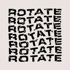 "Typographic single cover by Atelier Two Can Win for the song ""Rotate"" by The Disclaimerz. Hand-drawn typography, divided into circles to give the illusion of rotation."
