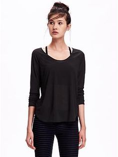 0a412eac9 Active Long-Sleeve Top for Women | Old Navy Petite Activewear, Plus Size  Activewear