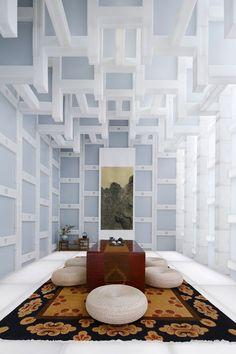 Stacks of History: Beijing Tea House by Kengo Kuma and Associates | http://www.yatzer.com/beijing-tea-house-kengo-kuma