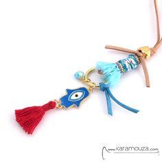 shop online: http://karamouza.com/el/kolie/les-amies-red-handeye-necklace-kolie-makri-kordoni-ethnic.html#.U00wlv225uY