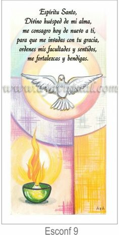 Tarjeta de confirmación para imprimir Faith In God, Lego Star Wars, Holy Spirit, Communion, Diy And Crafts, Prayers, Religion, Cross Stitch, Spirituality