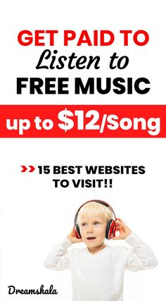 15 Websites To Get Paid To Listen Music Online (2020 Update*) Ways To Earn Money, Earn Money From Home, Way To Make Money, Make Money Online, Money Saving Tips, Listen To Free Music, Work Goals, Creating Wealth, Listening To Music