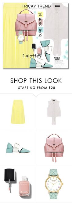 """""""Tricky Trend: Chic Culottes"""" by svijetlana ❤ liked on Polyvore featuring Chanel, Kate Spade, TrickyTrend, polyvoreeditorial and culottes"""