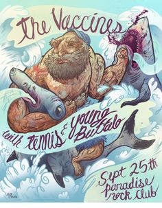 The Vaccines (band poster) by Logan Faerber